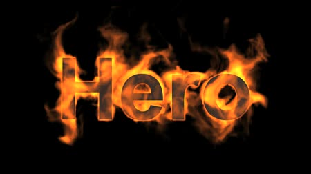 parlayan : flame hero word,fire text.
