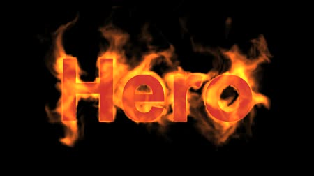 engulfed : flame hero word,fire text.