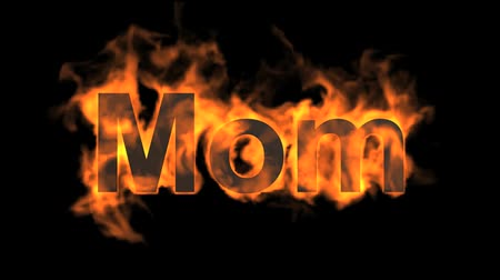 yanmak : flame mom word,fire text.