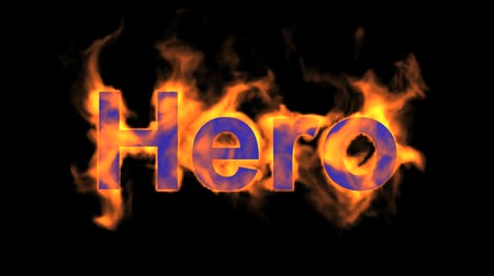 engulf : flame hero word,fire text.