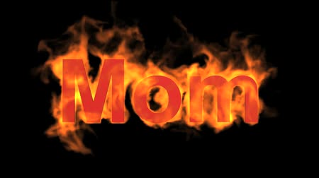 yanmak : flame red mom word,fire text.