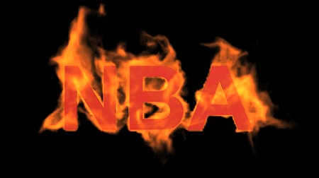 engulf : flame NBA word,fire text.