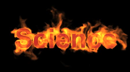 engulfed : flame science word,fire text.
