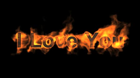 yanmak : fire I love you,flame text.