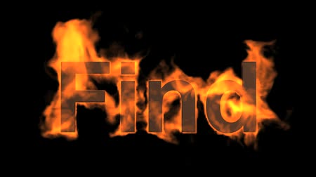 engulf : flame find word,fire text. Stock Footage