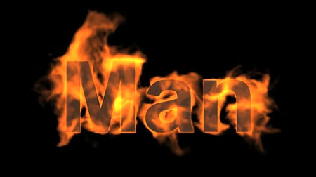 engulfed : flame man word,fire text.