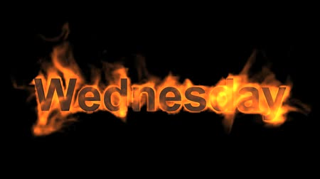 engulf : flame wednesday word,fire week text.