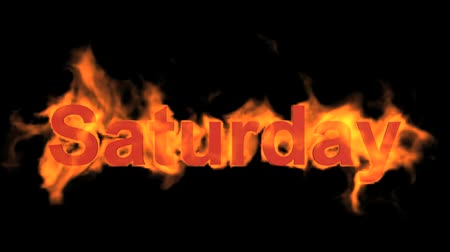 engulf : flame saturday word,fire week text.
