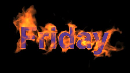 engulf : flame friday word,fire week text. Stock Footage