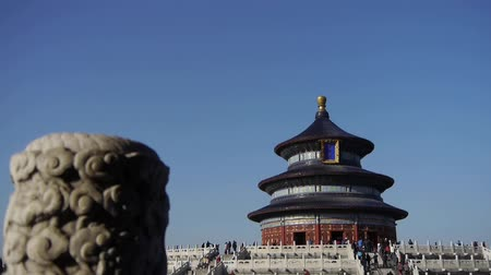 chinese culture : Temple of Heaven in Beijing.Chinas royal ancient architecture.stone pillars.