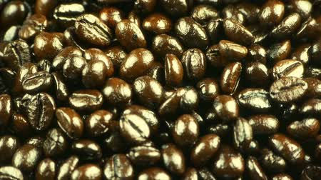 coffe : falling coffee beans closeup. Stock Footage