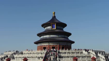 határkő : Temple of Heaven in Beijing.Chinas royal ancient architecture. Stock mozgókép