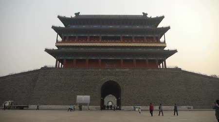 запрещенный : china Beijing ancient city gate tower & arch,Gorgeous palace.