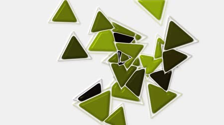 strzałki : green plastic triangles card mosaics flying,abstract math geometry.