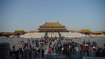 запрещенный : Forbidden City & tourist,Chinas royal ancient architecture.