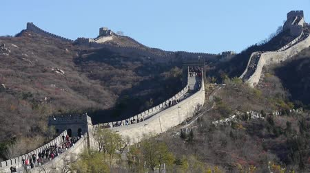 great wall of china : Great wall,China ancient architecture. Stock Footage