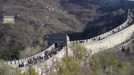 great wall of china : Great wall, Chinas ancient architecture. Stock Footage