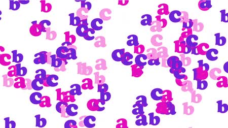 color alphabet abc,cartoon letters paper card.