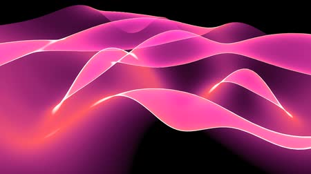fitas : Abstract pink light curve,satin ribbon & soft silk veils,flowing digital wave background.