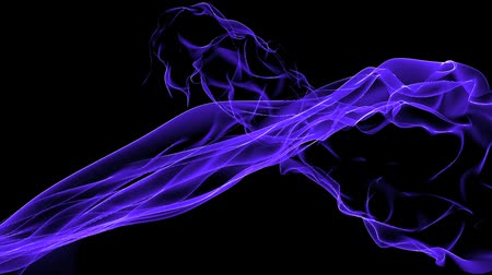 veludo : Abstract blue curve & tech web laser rays,flowing digital wave background. Vídeos