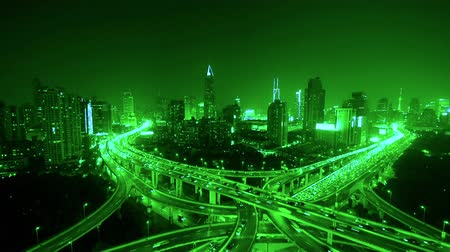streaking : time lapse of freeway busy city rush hour heavy traffic jam highway at night.z1 x2 c3=time lapse,Aerial View of freeway busy city rush hour heavy traffic jam highway,shanghai Yanan East Road Overpass interchange,driving racing by with streaking ligh