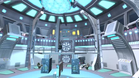 powerplant : Tech controller & control station,Sci-fi universe Modern space scene. Stock Footage