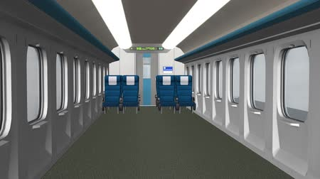 letadlo : Train interior,aircraft cabin interior.Close-up of modern train.