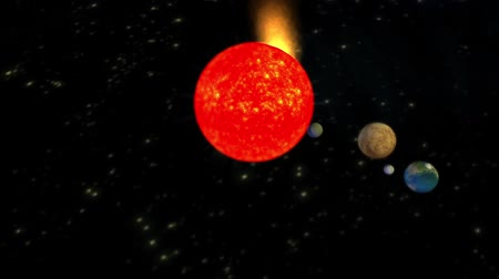 sluneční : The solar system planets Universe,Planets orbiting the sun.