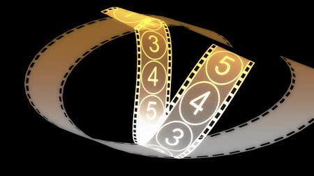 kino : Movie Film footage with digital numbers.abstract multimedia videography.35mm movie film & 35mm film strip.