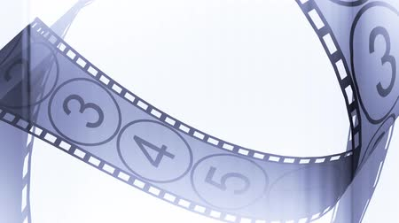film roll : Movie Film footage with digital numbers.abstract multimedia videography.35mm movie film & 35mm film strip.