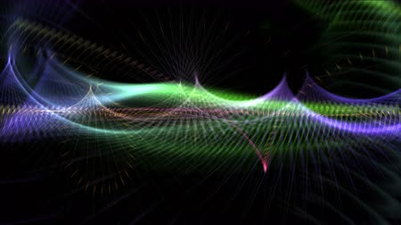 dyes : 4k Abstract curve lines fantasy aurora vj art dream background. Stock Footage