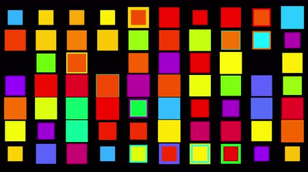 сетка : vj color square neon light array matrix scan background & cube grid big data database geometry modern shape backdrop.