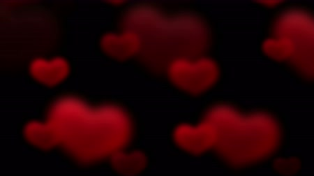heart shaped : 4k Red flying love heart background