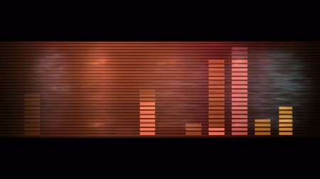 loud music : Audio equalizer,music rhythm Volume,speakers waves spectrum,heart-rate,vj background. Stock Footage