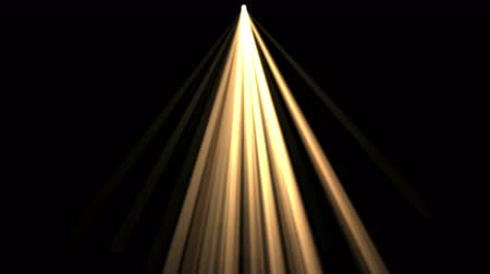 passages : 4k Abstract gold rays Stage Lighting hope light background, flare star sunlight, radiation ray laser energy, tunnel passage lines backdrop. Stock Footage