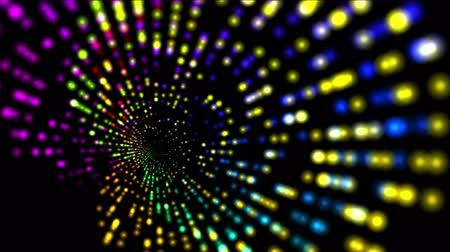 цветной : 4k abstract rotation color ray light, web tech background.  Стоковые видеозаписи