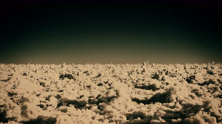 altocumulus : timelapse,aerial of white cloud mass flying in sky from ten thousand meters high altitude,close to the outer space.