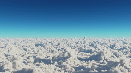 puffy clouds : timelapse,aerial of white cloud mass flying in sky from ten thousand meters high altitude,close to the outer space.