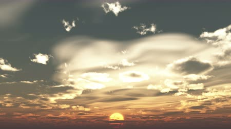 serene : timelapse running clouds in sunrise,Coming from a distance,Dawn Scene. Stock Footage