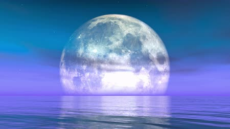 melek : Full Moon on the water,reflect on the sea,Science Fiction Scene,purple cloud  smoke flying.