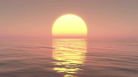 закат : Big sunset Over Ocean,sunset Time Lapse.