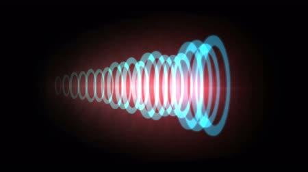 passages : Abstract circle ring ripple pulse background,aura laser,acoustic sound wave information tunnel technology,wireless Internet data backdrop.