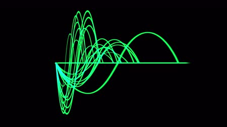 radio wave :  Abstract ripple rhythm wave line background,equalizer vibration sound pattern backdrop,science radar signal energy technology. Stock Footage