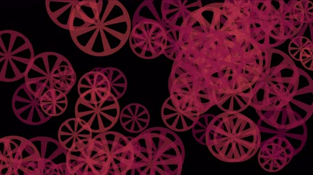 dönen : rotating red gears wheel systerm,abstract industry background. Stok Video