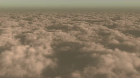 bulutluluk : timelapse,aerial of white cloud mass flying in sky from ten thousand meters high altitude,close to the outer space,sunset or sunrise. Stok Video