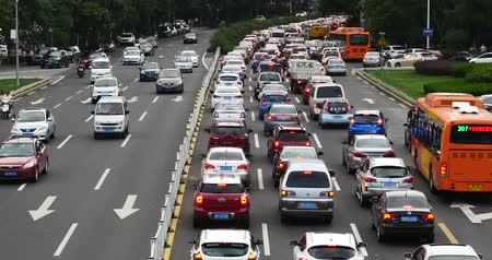 tráfego : Modern urban city busy heavy traffic jams,A lot of cars on highway street.transportation travel road.