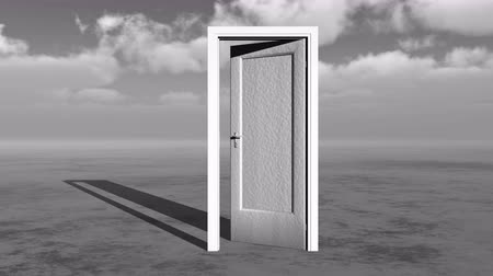 altocumulus : open door  timelapse flying clouds on the wide plains,sci-fi scenes,heaven door. Stock Footage