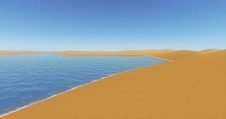 дюна : desert sand dunes  blue lake.