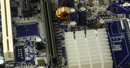 solder : computer main board,assembly circuit. Stock Footage