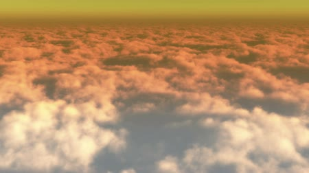 felhős : timelapse,aerial of white cloud mass flying in sky from ten thousand meters high altitude,close to the outer space,sunset or sunrise. Stock mozgókép